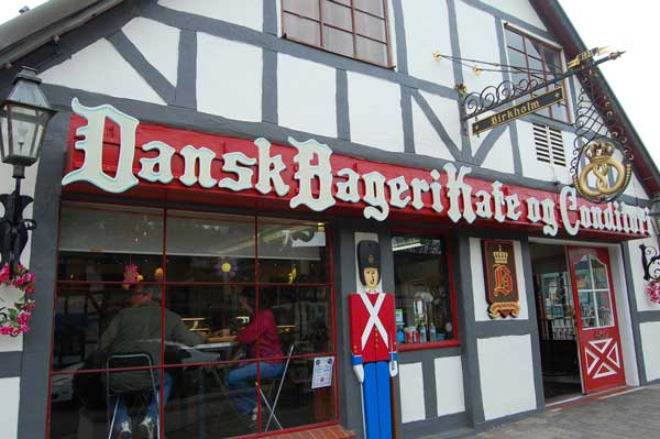 You can buy a lot of pastries in Solvang. There are Danish bakeries everywhere.