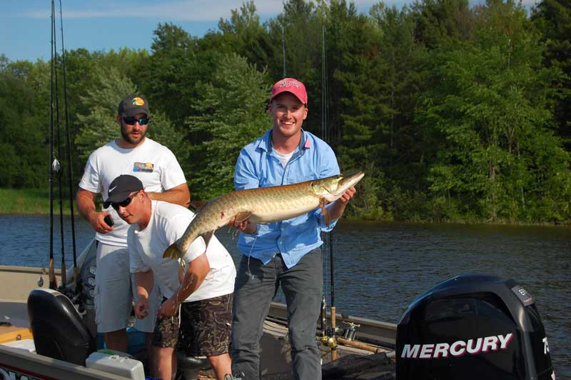The young guys in our second boat got a great musky as well!
